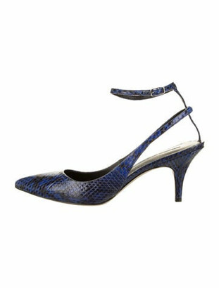 Alexander Wang Leather Pointed-Toe Pumps blue