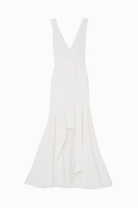 Galvan Cuzco Crepe Gown - White