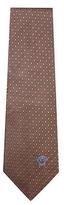 Versace Diamond Embroidered Silk Tie
