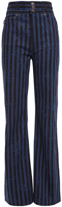 Marc Jacobs Striped High-rise Straight-leg Jeans