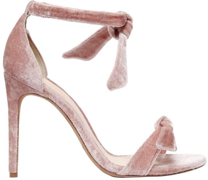 Alexandre Birman 100mm Clarita Knots Velvet Sandals