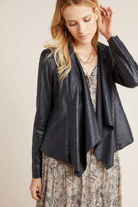 Blank NYC Blanknyc Cobra Draped Faux-Leather Jacket
