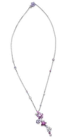 Van Cleef & Arpels Van Cleef and Arpels 18K White Gold, Diamond and Sapphire Pendant Necklace
