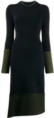 Victoria Victoria Beckham Ribbed Two Tone Dress