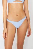 Frankie's Bikinis Frankies Bikinis Cloud Ribbed Grace Bikini Bottom Lite Blue M