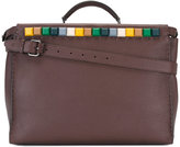 Fendi coloured-stud briefcase - men - Calf Leather - One Size