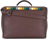 Fendi coloured-stud briefcase