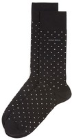 HUGO BOSS Polka Dot Combed Stretch Cotton Socks