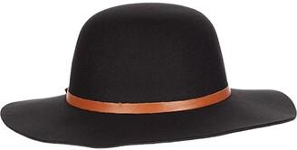 San Diego Hat Company Faux Felt Floppy w/ PU Knot Tie (Black) Traditional Hats