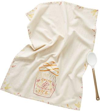 Anthropologie Lovely Lettering Co. x Dish Towel