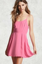 Forever 21 Lace-Up Mini Cami Dress