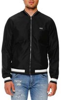 Dolce & Gabbana Bomber Jacket w/Striped Trim, Black