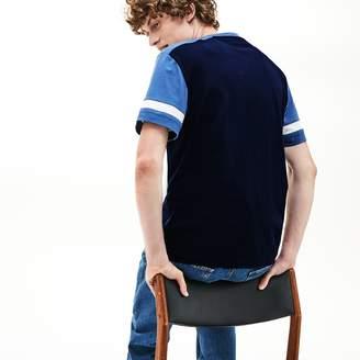 Lacoste Men's Crew Neck Color-Block Cotton T-shirt