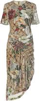 Preen by Thornton Bregazzi Rio Ruched Sequined Midi Dress