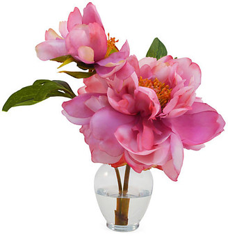 """11"""" Peony in Vase - Pink - The French Bee"""