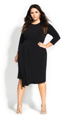 City Chic Simply Stylish Dress - black