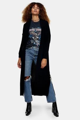 Topshop Womens Black Maxi Cardigan - Black