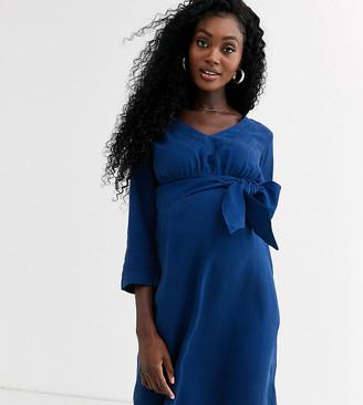 Mama Licious Mama.Licious Mamalicious waist tie dress-Blue