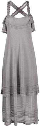 M Missoni Lurex Frill-Trimmed Dress