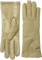 Isotoner Women's Smartouch Fleece-Lined Spandex Glove with Chevron Applique
