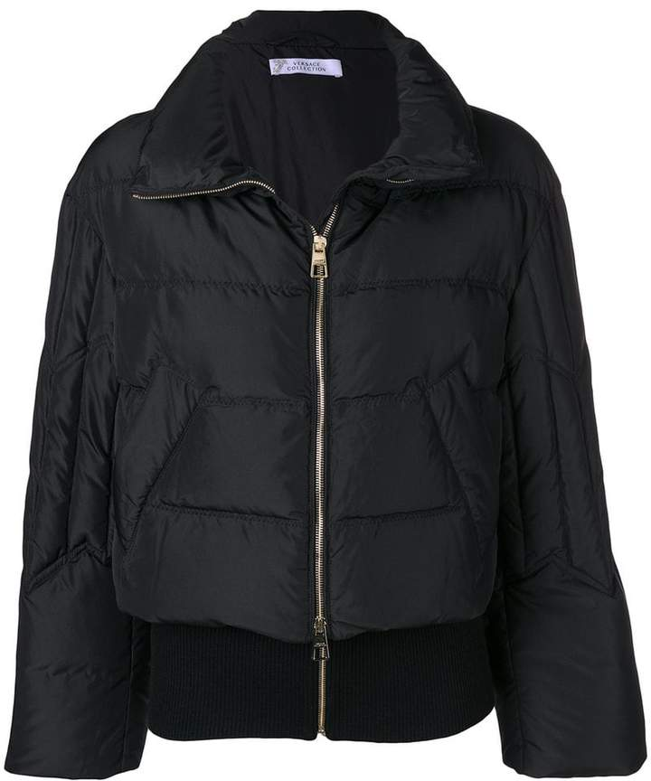 Versace full-zipped puffer jacket