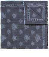 Versace Medusa logo scarf - men - Silk/Modal/Wool - One Size