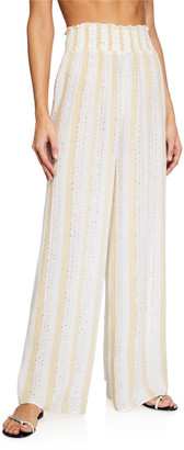 Ramy Brook Athena Sequined Coverup Pants