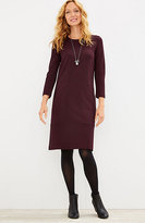 J. Jill Ponte Knit Seamed Herringbone Dress