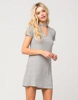 Full Tilt Stripe Choker T-Shirt Dress