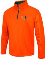 Men's Stadium Miami Hurricanes College Embossed Sleet Quarter-Zip Pullover