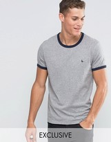 Jack Wills Ringer T-shirt In Regular Fit In Grey Exclusive