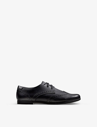 Clarks Scala Lace Youth leather derby brogues 9-12 years