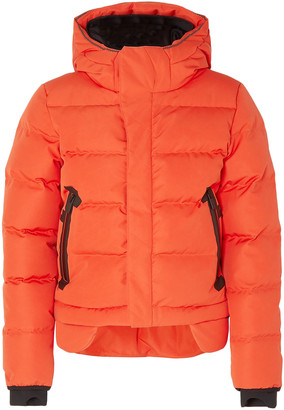 TEMPLA 2l Bio Two-tone Cropped Quilted Shell Hooded Down Jacket