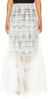 Marissa Webb Leon Lace Embroidered A Line Skirt