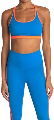 Wear It To Heart Le Deux Contrast Trim Strappy Sports Bra