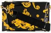 Versace baroque print logo strap bag