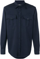 DSQUARED2 chest pocket shirt - men - Spandex/Elastane/Virgin Wool - 44