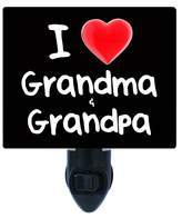 Night Light Designs Night Light - I Heart Grandma and Grandpa - Love LED NIGHT LIGHT