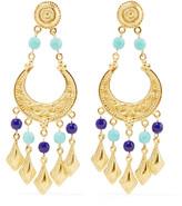 Ben-Amun Gold-tone stone earrings