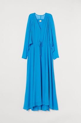 H&M Long Chiffon Dress - Blue