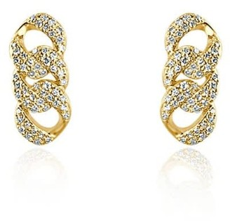Adriana Fine Jewelry 14K Yellow Diamonds Chain Stud Earrings