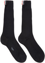 Thom Browne Black Ribbed Socks