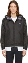 Fendi Black Hooded Zig Zag Jacket
