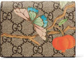 Gucci Printed Coated-canvas And Textured-leather Wallet - Beige