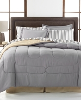 Sunham Navy Yard Gray Reversible 8-Piece Full Bedding Ensemble