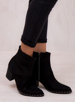 Urge Black Leather Hope Boots
