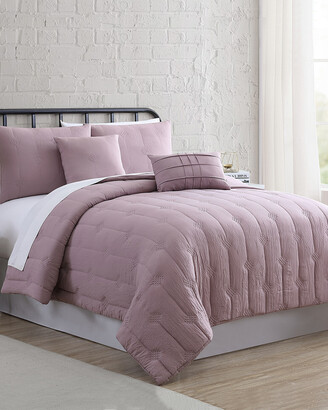 Modern Threads 5Pc Embroidered Garment-Washed Comforter Set