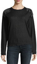 Zadig & Voltaire Kansas Satin-Patch Cashmere Sweater