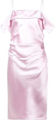 Helmut Lang gathered side shift dress