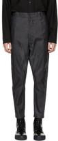 Robert Geller Grey Oiled Trousers